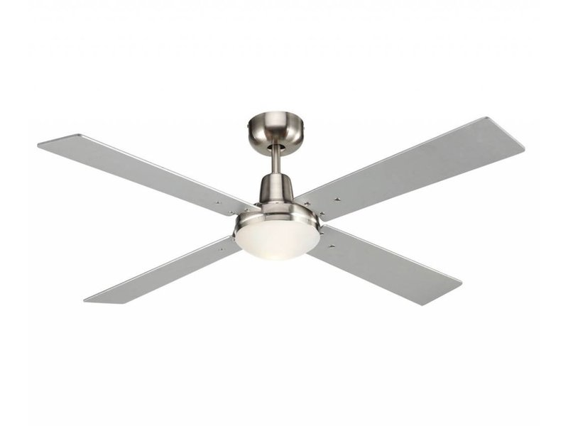 Lucci air Airfusion Quest II Brushed Chrome ceiling fan 122 cm with lamp type 210334