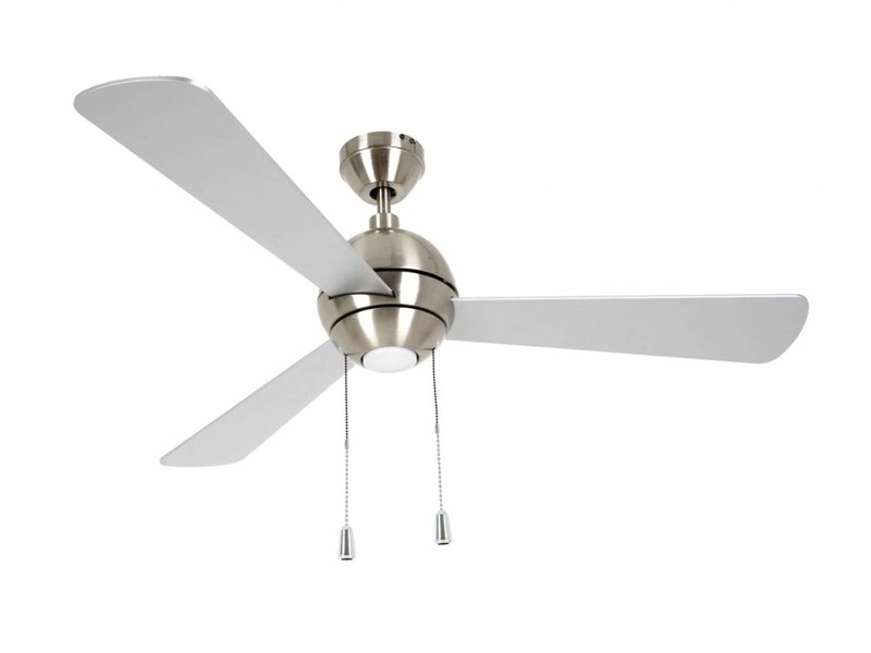 Lucci air Bordono Brushed Chrome ceiling fan 122 cm with LED type 210388