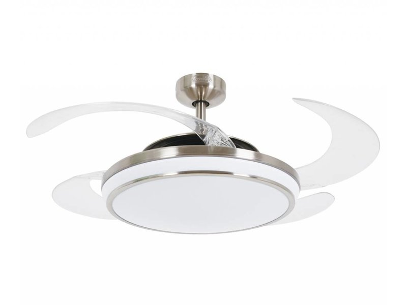 Fanaway EVO1 Brushed Chrome ceiling fan 121 cm with lamp type 211036