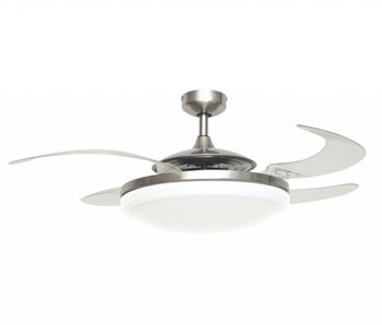 Fanaway EVO2 Endure Brushed Chrome ceiling fan 122 cm with lamp type 210931