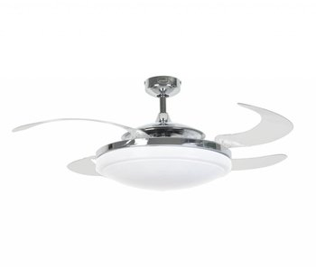 Fanaway EVO2 Endure Chrome ceiling fan 122 cm with lamp type 210932