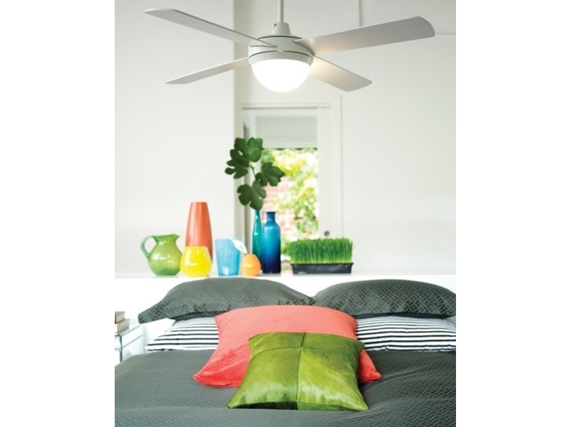 Lucci air Futura ECO White ceiling fan 122 cm with lamp type 210829