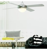 Lucci air Futura ECO Brushed Chrome ceiling fan 122 cm with lamp type 210830