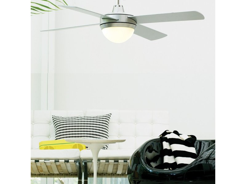 Lucci air futura eco brushed chrome ceiling fan 122 cm with lamp lucci air futura eco brushed chrome ceiling fan 122 cm with lamp type 210830 aloadofball Images