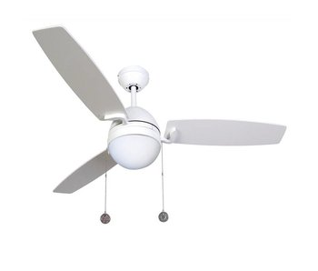 Beacon Boreas White ceiling fan 122 cm with lamp type 512104