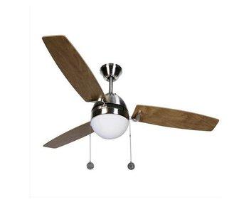 Lucci air Boreas Geborsteld Chroom plafondventilator 122cm met lamp type 512105
