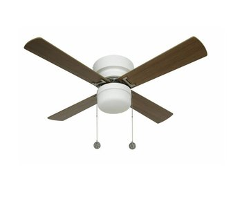 Lucci air Nordic White ceiling fan 105cm with lamp type 512106