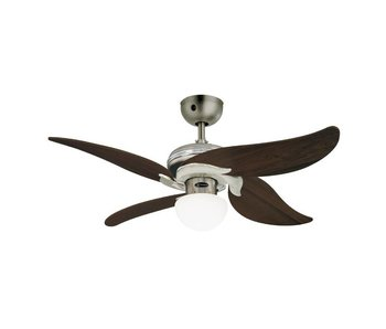 Westinghouse Jasmine ceiling fan brushed chrome 105cm with light type 72368