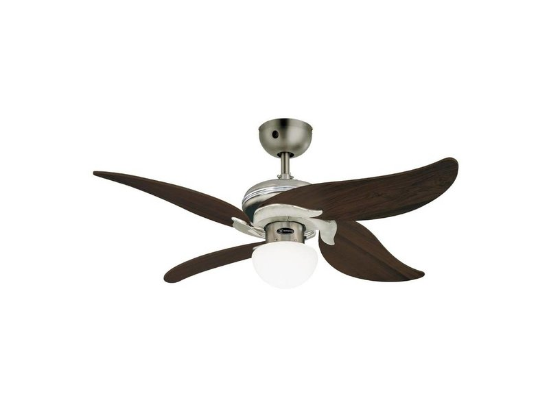 Westinghouse Jasmine ceiling fan brushed chrome 105cm with light type 72368