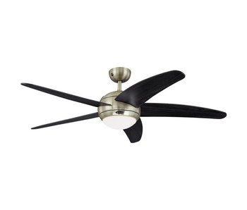 Westinghouse Bendan ceiling fan brushed chrome 132cm with lamp type 72557