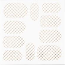 No Label Metallic Filigree Stickers SFLS-001 Gold