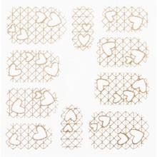 No Label Metallic Filigree Stickers SFLS-010 Gold
