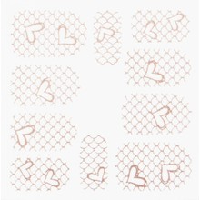 No Label Metallic Filigree Stickers SFLS-012 Rose Gold