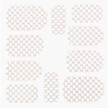 No Label Metallic Filigree Stickers SFLS-003 Rose Gold