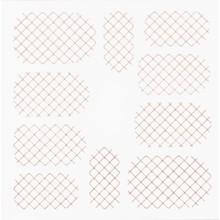 No Label Metallic Filigree Stickers SFLS-001 Rose Gold