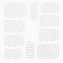 No Label Metallic Filigree Stickers SFLS-002 Silver