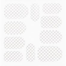 No Label Metallic Filigree Stickers SFLS-001 Silver