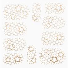 No Label Metallic Filigree Stickers SFLS-011 Gold