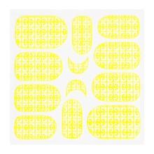 No Label Metallic Filigree Sticker KOR-016 Neon Yellow