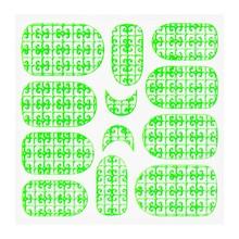 No Label Metallic Filigree Sticker KOR-016 Neon Green
