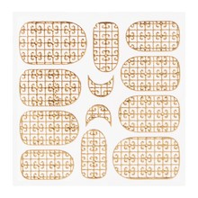 No Label Metallic Filigree Sticker KOR-016 Gold