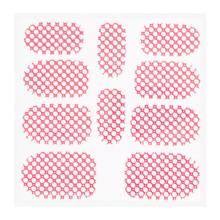 No Label Metallic Filigree Sticker KOR-015 Neon Pink
