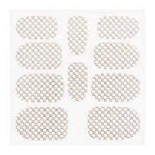 No Label Metallic Filigree Sticker KOR-015 Silver