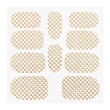 No Label Metallic Filigree Sticker KOR-015 Gold
