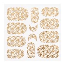 No Label Metallic Filigree Sticker KOR-011 Gold