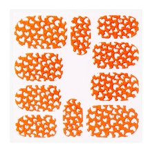 No Label Metallic Filigree Sticker KOR-008 Neon Orange