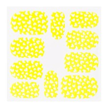 No Label Metallic Filigree Sticker KOR-008 Neon Yellow