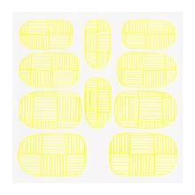 No Label Metallic Filigree Sticker KOR-007 Neon Yellow