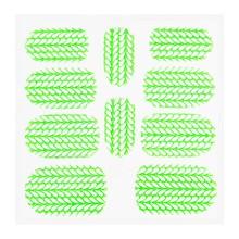 No Label Metallic Filigree Sticker KOR-004 Neon Green
