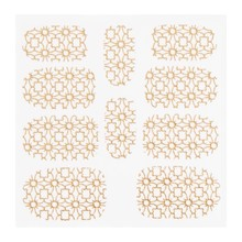 No Label Metallic Filigree Sticker KOR-002 Gold