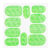 No Label Metallic Filigree Sticker KOR-001 Neon Green