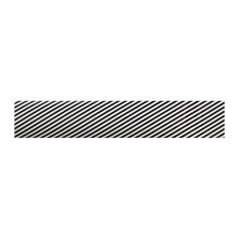 No Label Transfer Foil Black & White Stripes