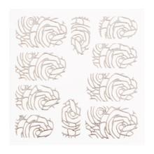 No Label Metallic Filigree Sticker LNS-11005 Silver