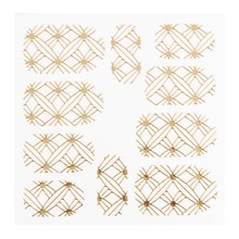 No Label Metallic Filigree Sticker LNS-11008 Goud
