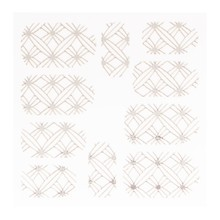 No Label Metallic Filigree Sticker LNS-11008 Silver
