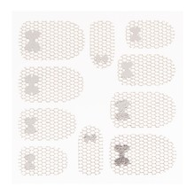 No Label Metallic Filigree Sticker LNS-11013 Silver