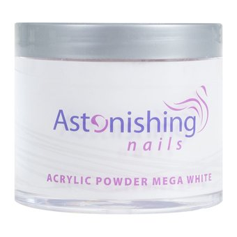 Astonishing Nails Acryl Powder Mega White 100gr