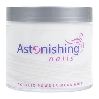 Astonishing Nails Acryl Powder Mega White 250gr
