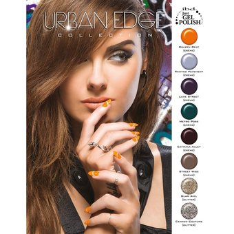 IBD Urban Edge Nail Lacquer Display 8 pcs