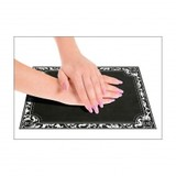 No Label Anti-Slip Tafel Mat Zwart