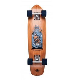 "D-STREET D-STREET CRUISER CHERRY LOOSE LIPS 28"" WOOD"