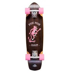 "D-STREET D-STREET CRUISER WALNUT KICK PUSH 28"" WOOD"