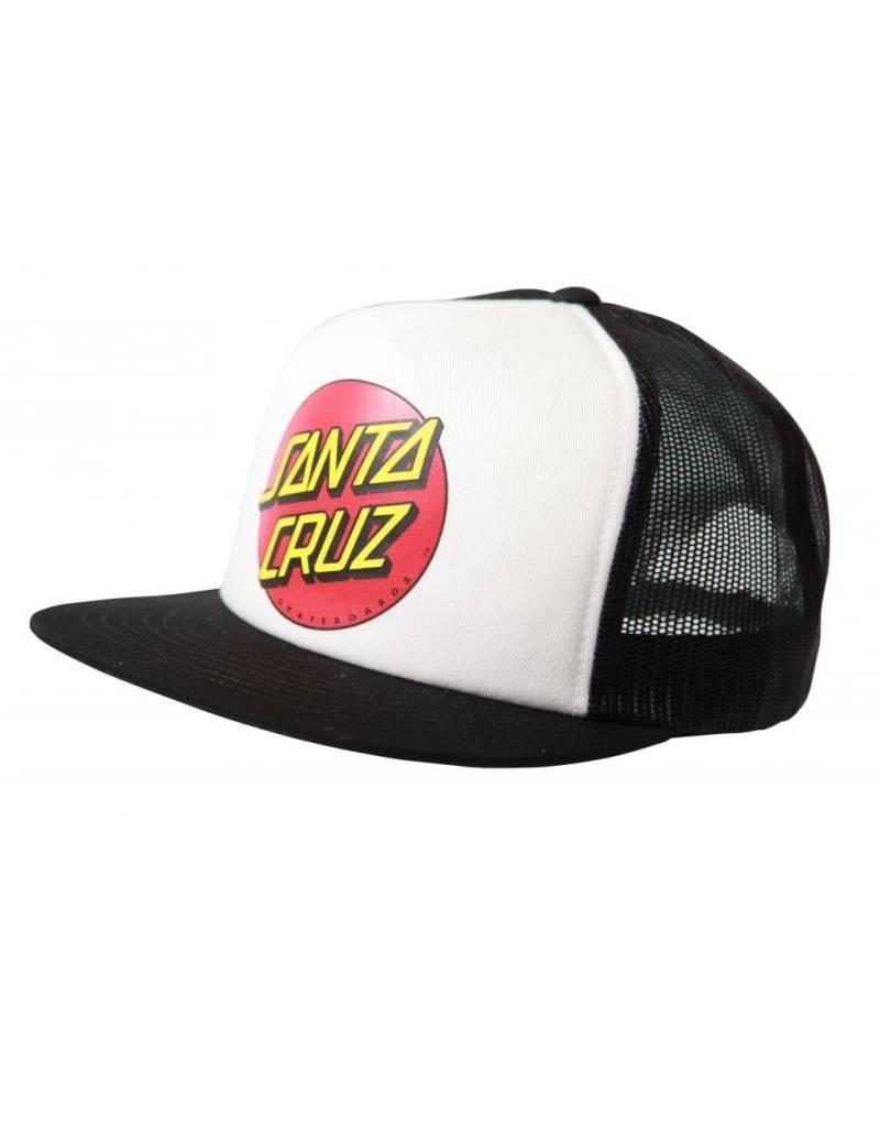 SANTA CRUZ SANTA CRUZ CAP CLASSIC DOT WHITE BLACK