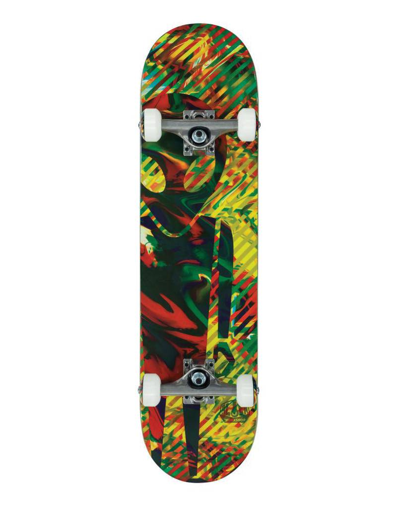 "ALIEN WORKSHOP ALIEN WORKSHOP DREAMLAND MULTI 7.875"" COMPLETE SKATEBOARD"