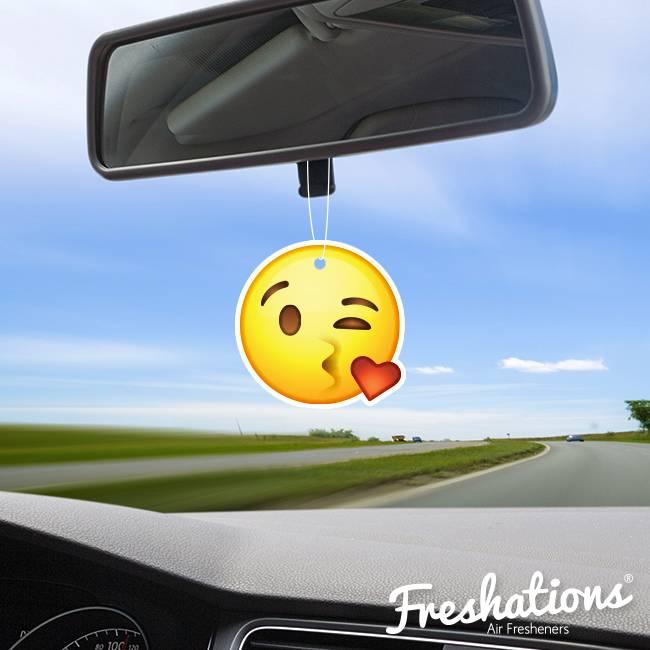 Assainisseurs d'air de Freshations | Émoticône - Kiss | Vanilla