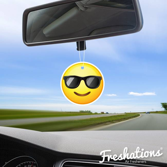 Air fresheners by Freshations   Emoticon - Sunglasses   New Car